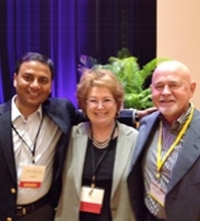 Ajay Goel, Cheryl Myers, with Terry