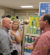 Terry on tour visiting stores
